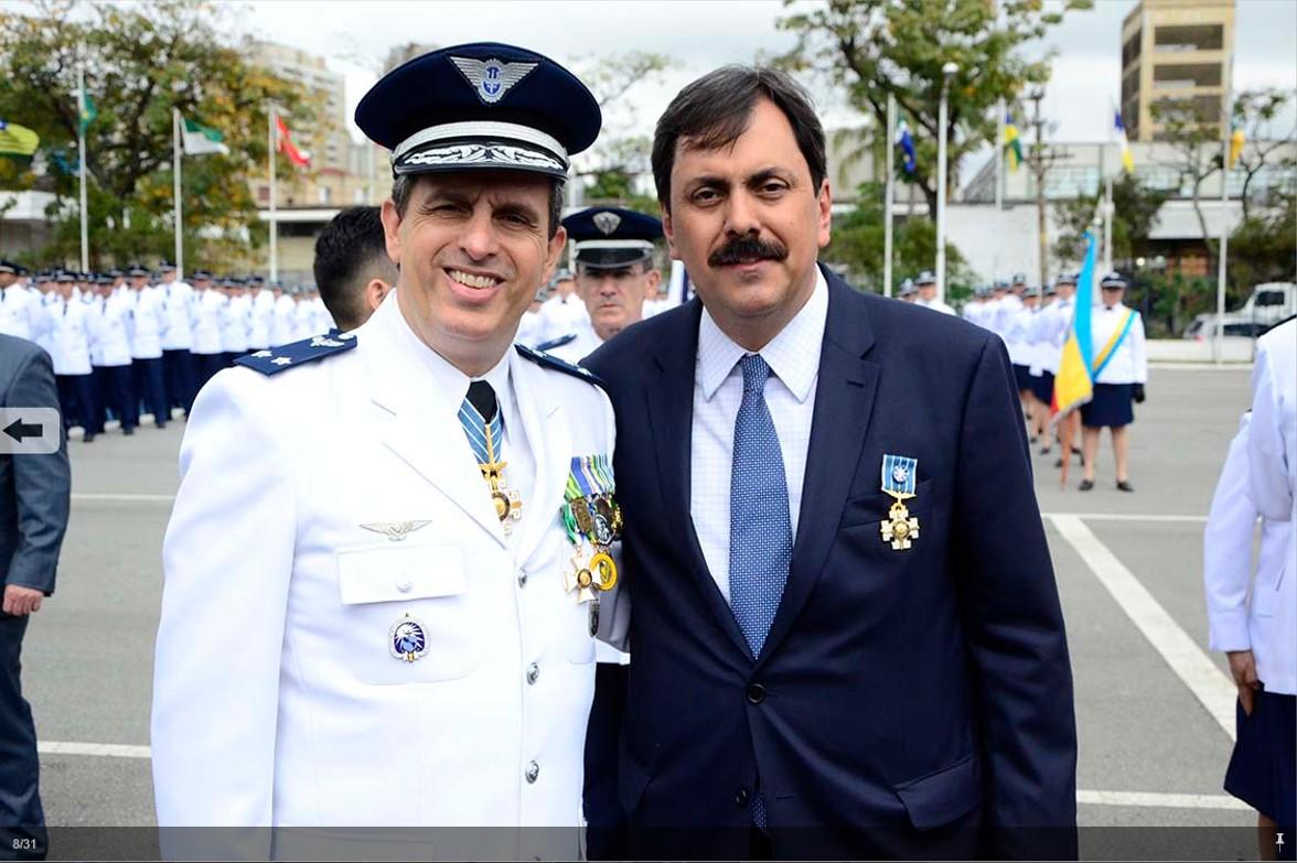 Condecoração com a Ordem do Mérito Aeronautico