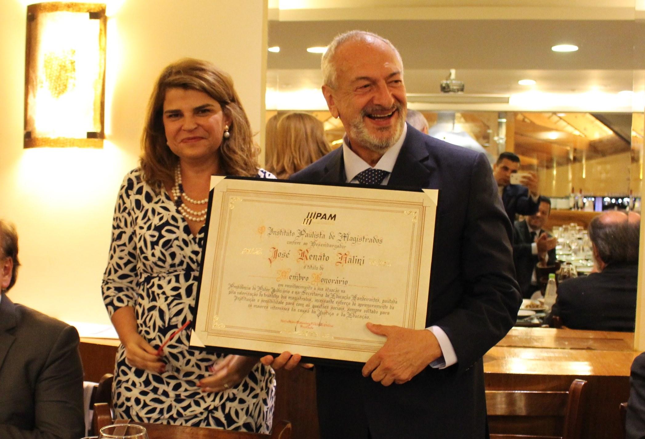 Desembargador José Renato Nalini recebe título de membro honorário do IPAM