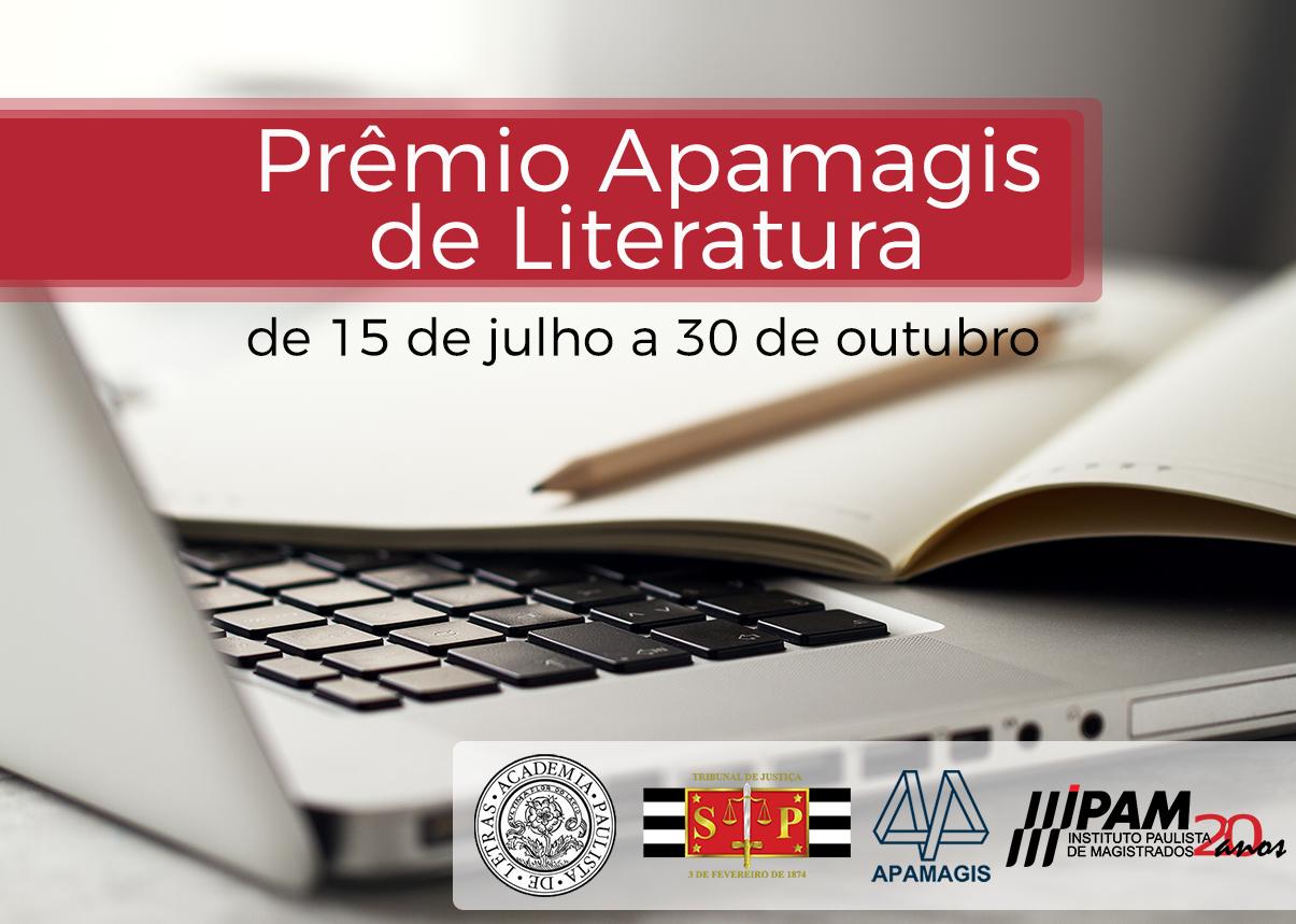 Prêmio Apamagis de Literatura abriu inscrições nesta quinta-feira (15)