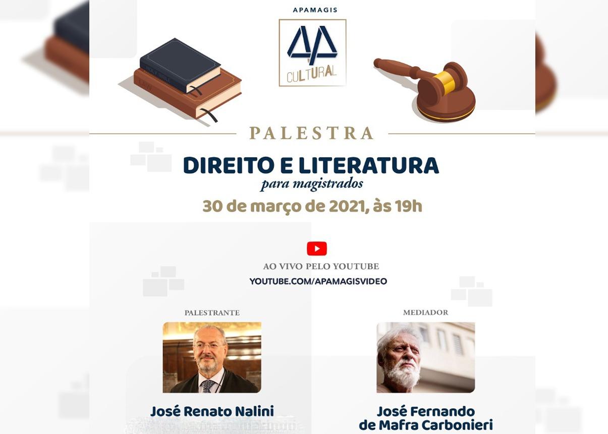 Palestra da Apamagis sobre Direito e Literatura tem parceria do IPAM